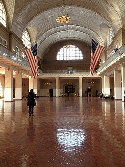 Ellis Island, Usa, New York, Entrance Hall, Immigration