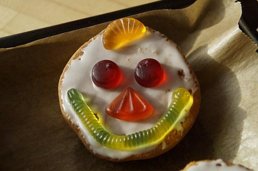 Americans, Pastries, Clowns, Clowngesicht, Face