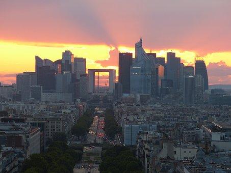 La Defense, Paris, France, Architecture, Avenue, Road