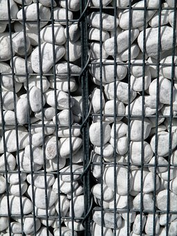 Stones, Wall, Stone Wall, Grid, Metal, Amriswil