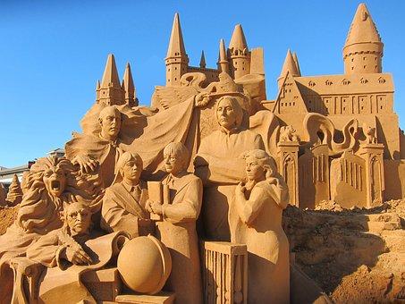 Harry Potter, Sand Sculpting, Hogwarts
