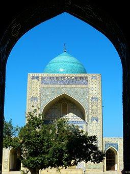 Bukhara, Mosque, Kalon Mosque Islam, Dome, Building