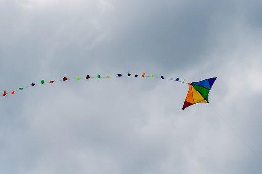 Kite, Sky, Rainbow, Colors, Sport, Fun, Fly, Flying