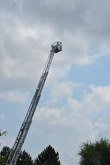 Ladder, Head Of Rescue, Fire, Rescue, Fire Escape, Cart
