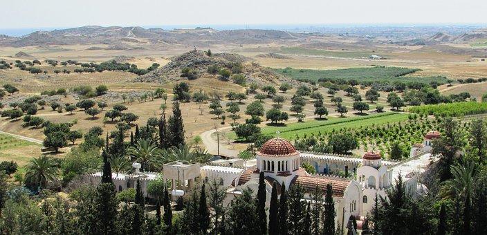 Cyprus, Avdellero, Monastery, Landscape, Countryside