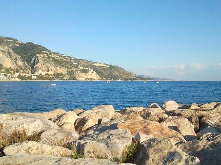Sea, Rock, Landscape, Seaside, Ocean, Side, Rocks