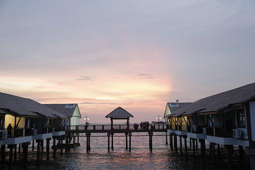 Dickson, Sunset, Melaka, Malaysia, Evening, Pier, Sea