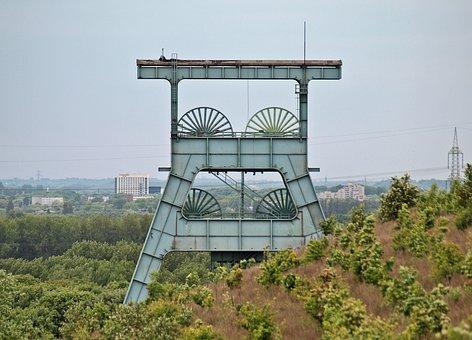 Ruhr Area, Pott, Coal Pot, Bill, Headframe, Mining