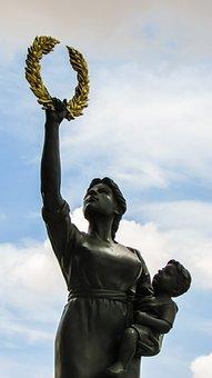Cyprus, Avdellero, Mother, Sculpture, Monument