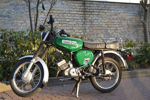 Simson, Bike, Moped, Moppet, Ddr, Nostalgia