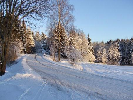 Norway, Winter, Snow, Way, The Nature Of The, White
