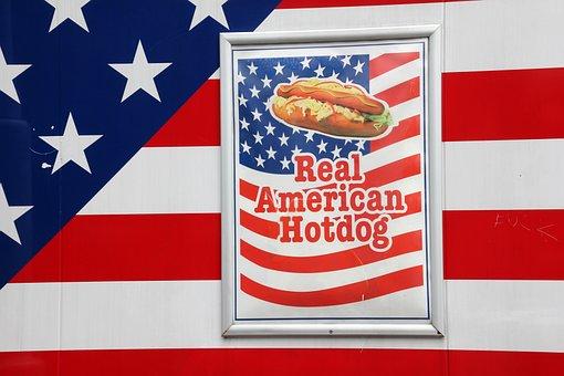 Advertising, Real American Hotdog, Flag, America