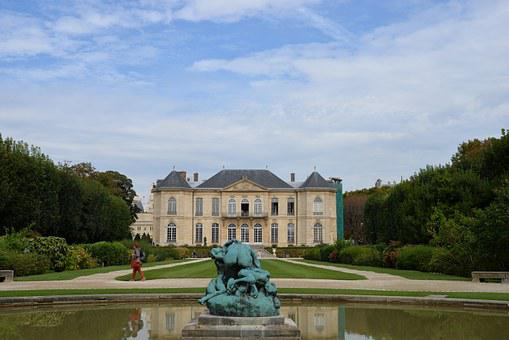 Rodin Museum, Perspective, Hotel, Sculpture, Reflection