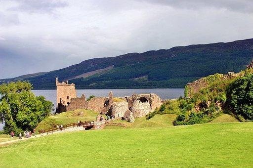 Loch Ness, Urquhart Castle, Scotland, Castle, Ruin