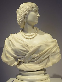 Young, Woman, Charles, Cordier, Marble, Sculptures
