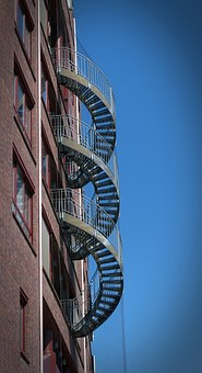 Stairs, Escape Route, Staircase Finish, Security, Steel