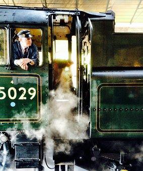 Train, Steam Engine, Engine, Railroad, Railway