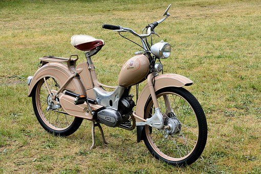 Moped, Simson Sr2, Suhl, Ddr, Old, Two Wheeled Vehicle