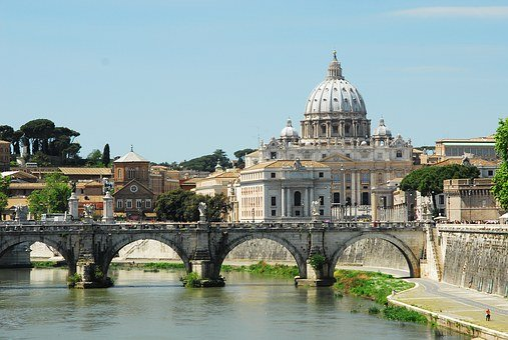 Rome, Saint Peters, Tiber, Saint, Peter, Vatican, Italy