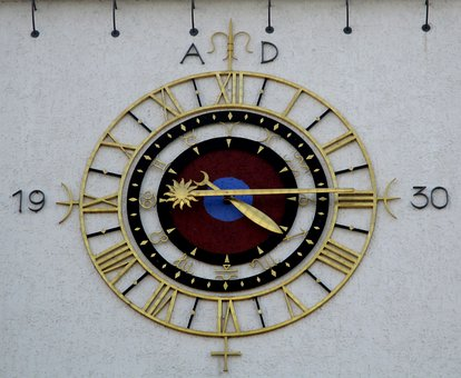 Time, Clock, Clock Tower, Town Home, Amriswil, Thurgau