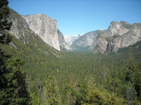 Yosemite, National, Park, Tunnel, View, Landscape