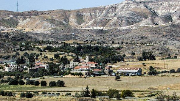 Cyprus, Avdellero, Village, View