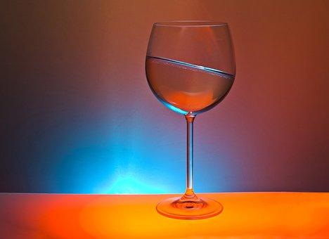Glass, Drink, Colorful, Light, Askew, Oblique, Table