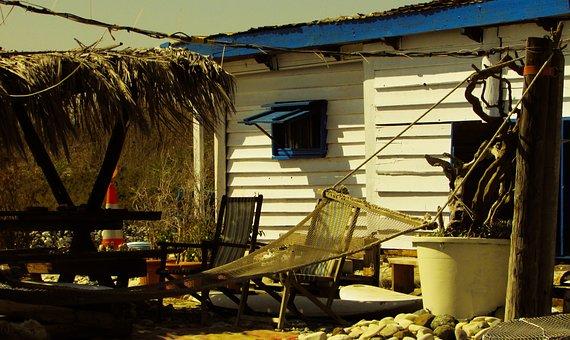 Hut, Rough, Beach, Hammock, Hippie, Freedom, Autumn