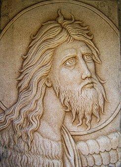 Engraving, Ayios Ioannis Prodromos, Wall, Church, Stone