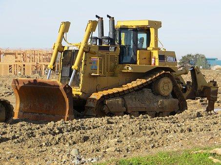 Bulldozer, Tractor, Machinery, Equipment, Vehicle