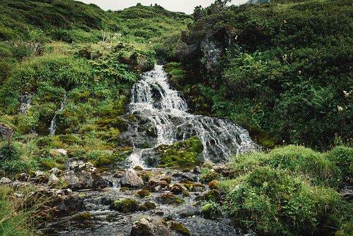 River, Ariege, Europe, Landscape, Mountain, Green