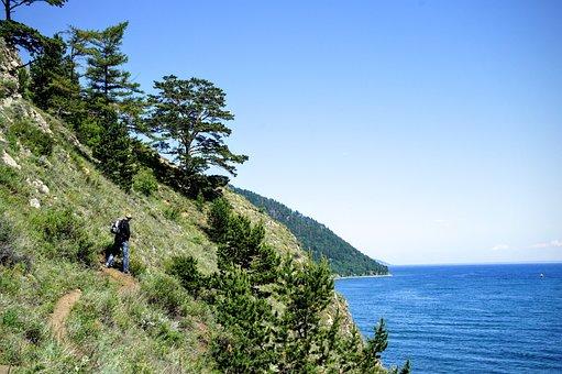 Hiking, Baikal, Lake, Baikalsee, Trekking