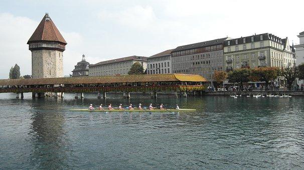 Lucerne, Reuss Sprint, Kappel Bridge, Water Tower