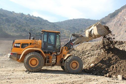 Excavator, Loader, King Of The Mine, Loading, Sany