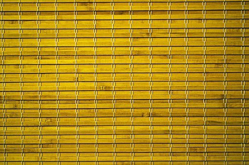 Bamboo, Yellow, Durable, Modern, Tied, Curtain