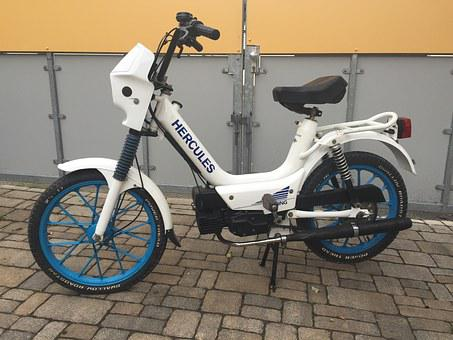 Moped, Hercules, White, 25 Km H