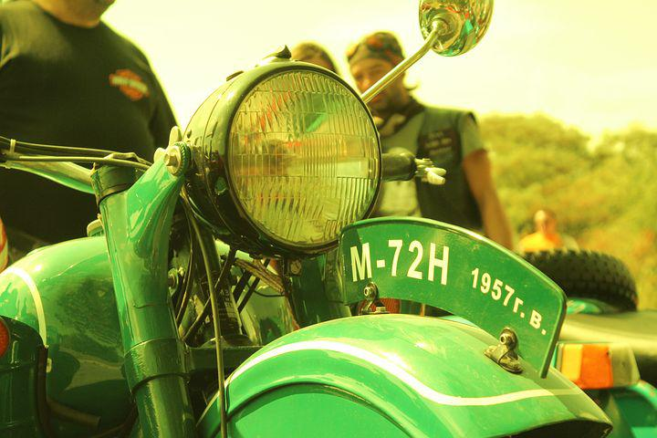 Motorcycles, Vintage, Green