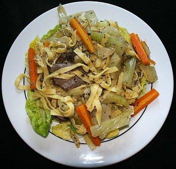 Noodle Dish, Court, Food, Plate, Eat, Edible, German