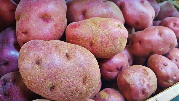 Red Potatoes, Potatoes, Food, Tuber, Vegetable, Produce