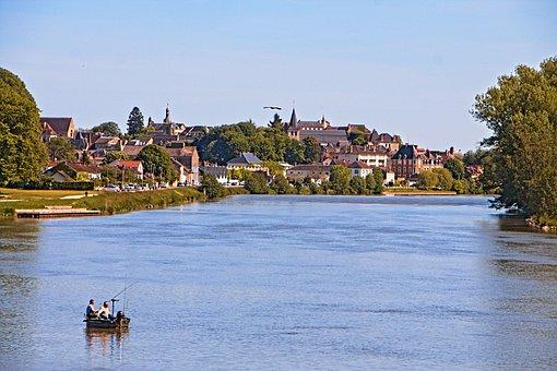 Decize, Loire, River, Panorama, City, Nièvre