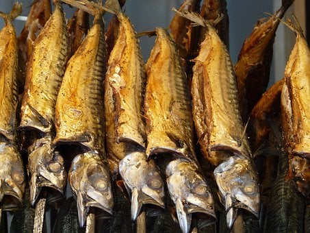 Smoked Fish, Smoked Mackerel, Mackerel, On-a-stick Fish
