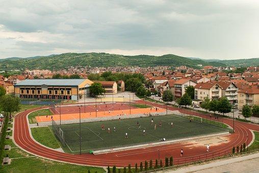 Playground, Football, Soccer, Stadium, Game, Line