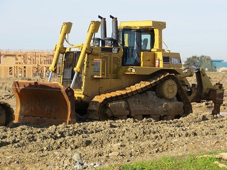 Bulldozer, Tractor, Machinery, Equipment, Vehicle