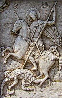 Engraving, Ayios Dimitrios, Wall, Church, Stone