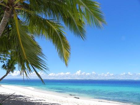 White Sandy Beach, Philippines, Mindanao, Island