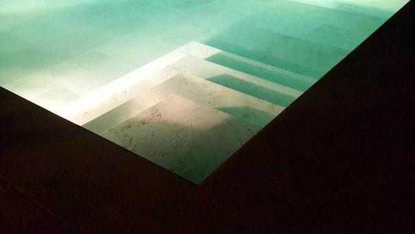 Pool, Water, Blue, Stairs, Reflection, Swimming, Spa