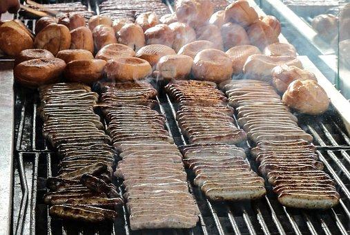 Nuremberg Sausages, Sausages, Grill, Bratwurst, Eat