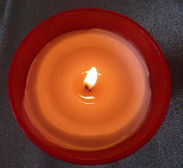 Red Candle, Light, Decoration, Season, Candlelight