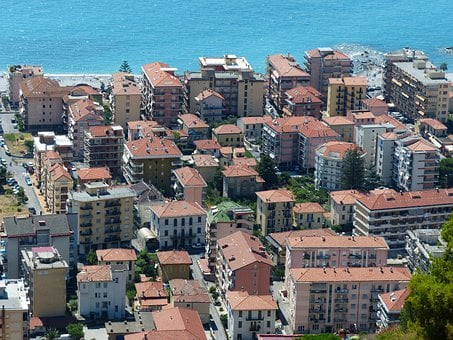 Ventimiglia, Roofs, Homes, City, North Italy