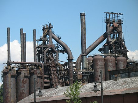 Factory, Allentown, Steel, Pipe, Manufacture